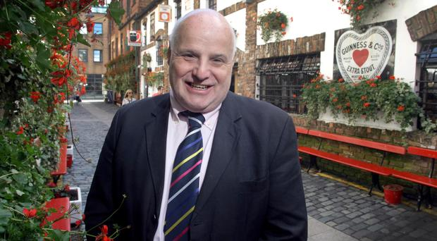 Businessman Willie Jack outside the Duke of York in Belfast city centre