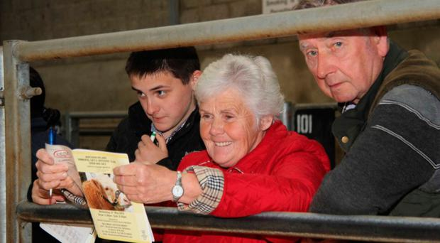 Thelma and Peter Gorman at a cattle show and sale