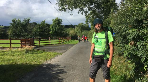 Eamonn Donnelly walked from Austria to Northern Ireland in memory of his late mother's dementia battle (Kieran Donnelly/PA)