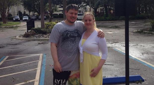 Raymond Murray and Holly McCay who got engaged in Florida