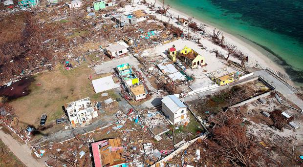 Homes have been destroyed on the British Virgin Islands