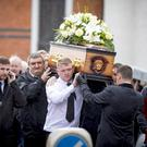 The funeral procession of Stephen Ferrin takes place in north Belfast