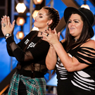 Hayley Norton and Mum Debye Gaskin from west Belfast on the X Factor