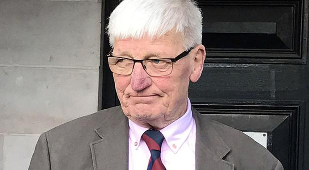 Retired British soldier Dennis Hutchings is accused of the attempted murder of John Pat Cunningham in 1974