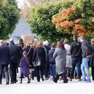 Family and friends at the funeral of Co Down man Rory McCabe