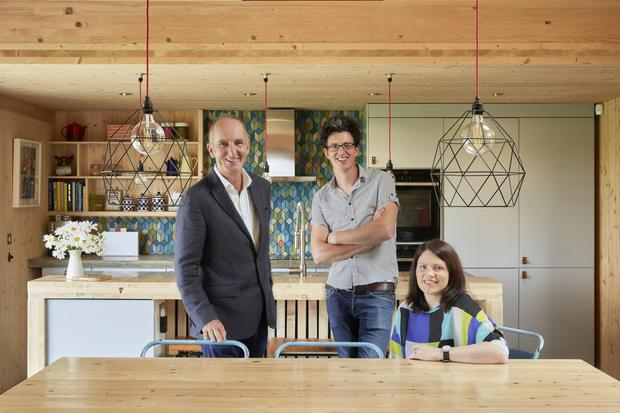 Grand Designs presenter Kevin McCloud with Micah and his wife Elaine