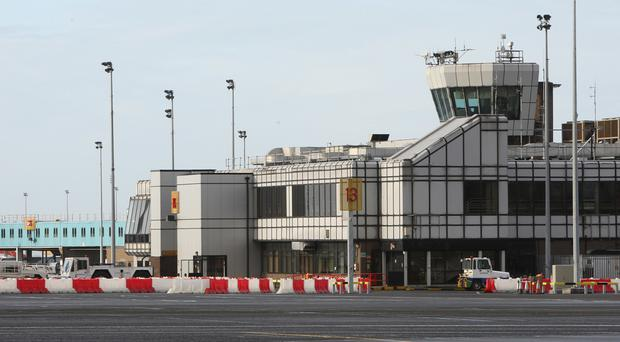 Staff at Belfast International Airport reported the incident.