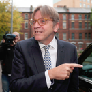 Guy Verhofstadt arrives in Belfast yesterday
