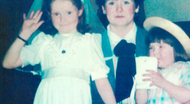 Fire victims Mary Ellen Byrne (left) and her sister Kerrie Ann Byrne with their mother Elizabeth Byrne