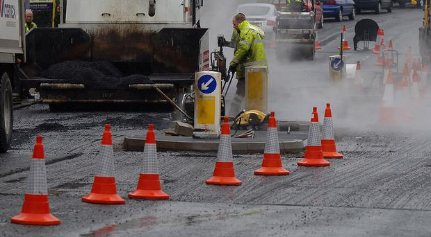 Road resurfacing work is to end five months ahead of the new financial year.
