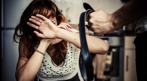 Domestic violence is growing problem in Northern Ireland. File image posed by model