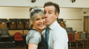 Anton Du Beke and Ruth Langsford rehearsing for Strictly Come Dancing