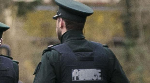 Police attended the scene near Newtownabbey on Monday.