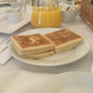 A photograph posted by Stephen Walker of potato bread served cold at the Labour Party conference