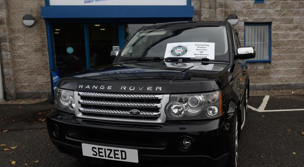 Items seized included a Range Rover