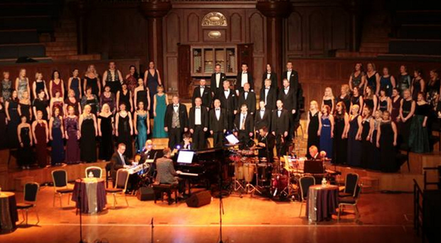 St Agnes' Choral Society on stage