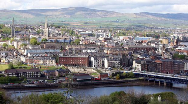 A booby trap bomb was found under the off-duty policemen's car in Londonderry