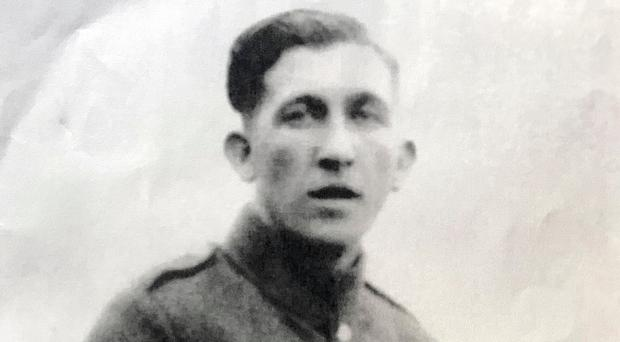 Royal Irish Fusilier Edward Graham, whose grave will be rededicated by his twin sons