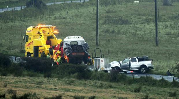 The crash at Hannahstown on Wednesday that claimed the life of Morgan Denny