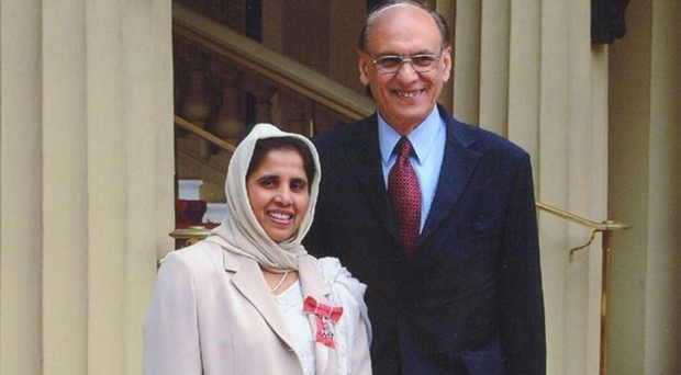The late Royal Victoria Hospital cardiologist Dr Mazhar Khan with his wife Amtul Salman