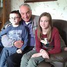 Billy Whiteside with grandchildren Anna and Matthew
