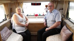 Anne and Ivan Hill from Newtownards in their camper van
