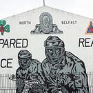 A UVF mural in north Belfast
