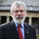 Demands: SF leader Gerry Adams