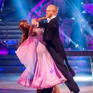 Jonnie Peacock with his Strictly dance partner Oti Mabuse
