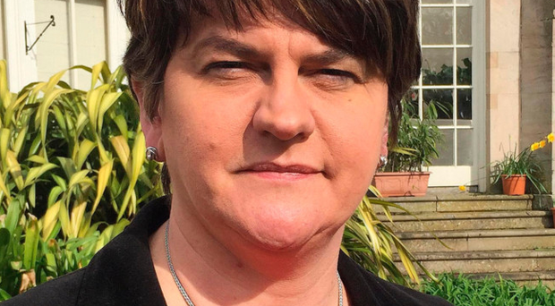 Arlene Foster was speaking to Times