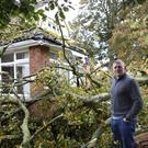 Damage from a tree that fell on Tommy Dowds' house in Broughshane