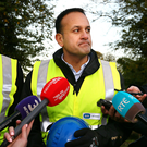 Taoiseach Leo Varadkar seeing the work of ESB network crews who were repairing damaged power lines