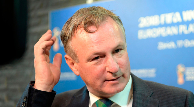 NI boss Michael O'Neill at the draw