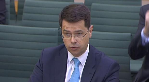 Northern Ireland secretary James Brokenshire gives evidence to the Northern Ireland Affairs Committee in Portcullis House, London