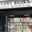 Belfast Books Limited, on York Road, was damaged by Storm Ophelia