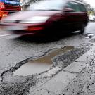 Local authorities spent £104 million repairing pot holes last year, research shows
