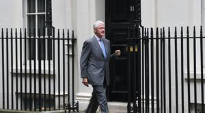 Former US president Bill Clinton arrives at 10 Downing Street