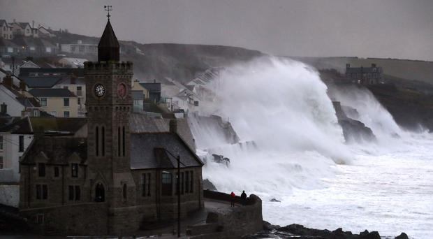 People have been advised to stay away from exposed coastal areas and urged not to take so-called 'storm selfies'