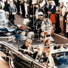John F Kennedy just before he was shot dead in Dallas