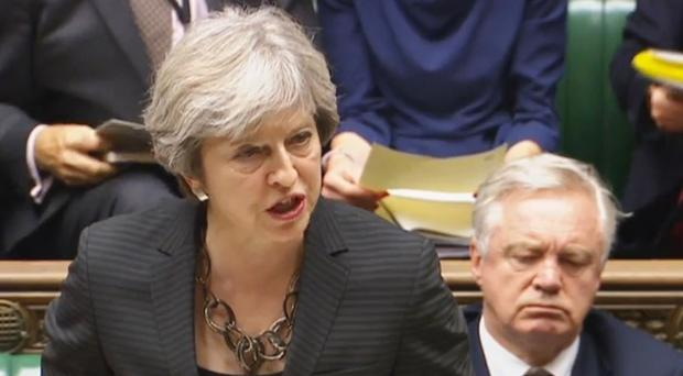 Theresa May told the Commons she was confident that she would be able to get a new, deep and special partnership with the EU