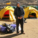 Ken Tate in Nepal prior to taking part in his first Everest Marathon