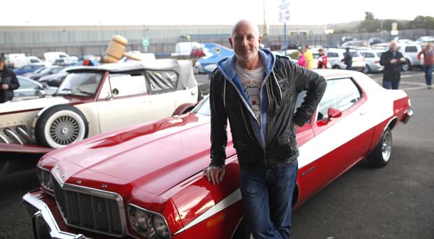 Mitch Healy who was bidding on the Starchy and Hutch car at Wilsons Auction