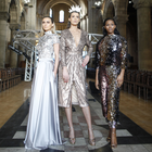 Models at the launch of Belfast Fashionweek at St Anne's Cathedral