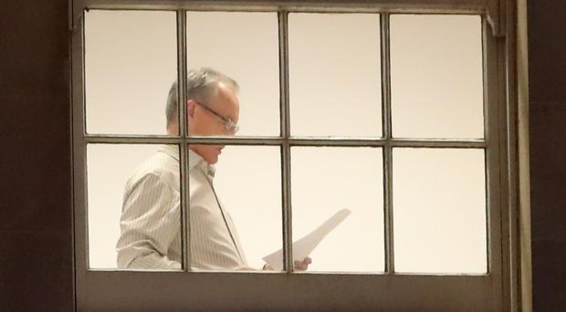 Sinn Fein negotiator Gerry Kelly seen in the party's offices at Stormont, as the latest deadline to restore powersharing neared