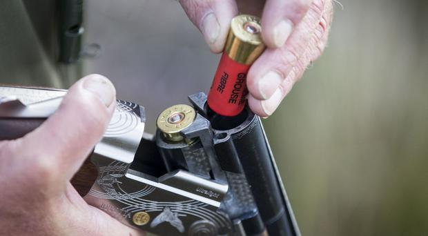 What appeared to be part of a spent cartridge was found at the scene