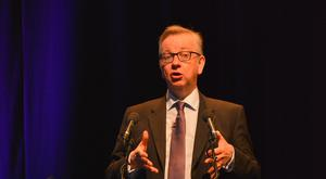 Secretary of State for Food Michael Gove at yesterday's opening ceremony in Belfast of the World Dairy Summit