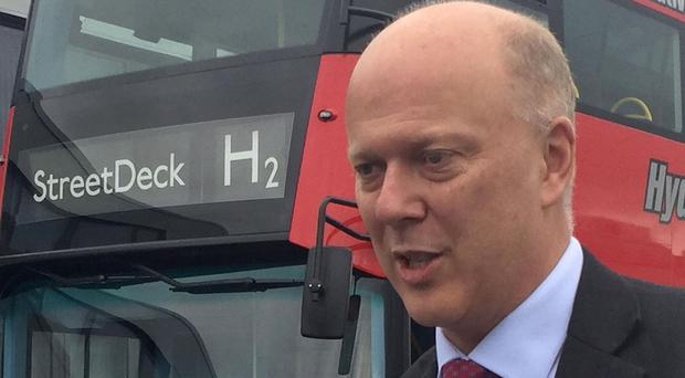 Transport Secretary Chris Grayling visited Wrightbus in Ballymena