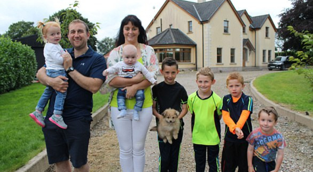 Patrick and Grainne Kelly live with their six children in a five-bedroom house on the family farm in Co Tyrone