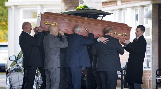 The funeral of Joe Devine who died in Cyprus