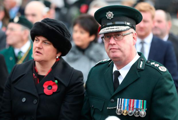 DUP leader Arlene Foster and PSNI Chief Constable George Hamilton